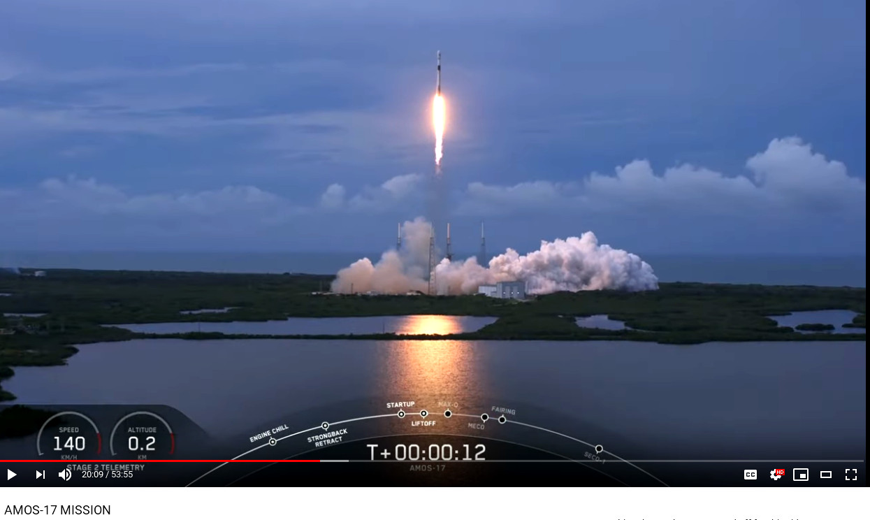 4rd time this falcon 9 booster has been to space - this time it will not be recovered - https://youtu.be/fZh82-WcCuo