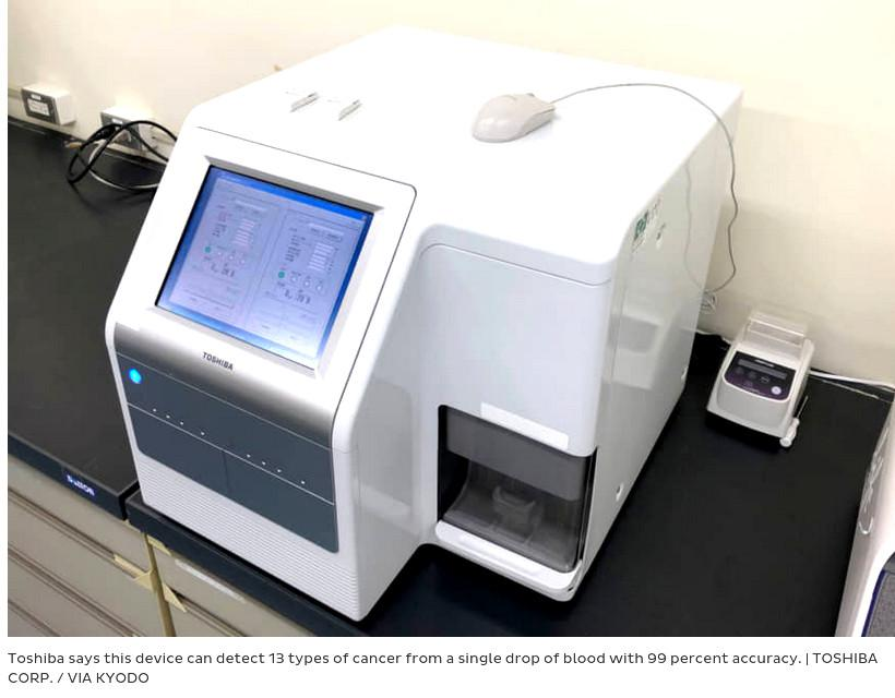 Toshiba says can early detect 13 types of cancer with 99% accuracy