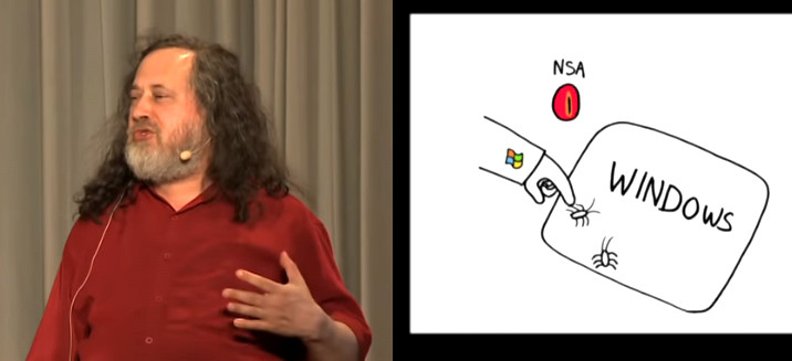 Free Software is protecting your data – 2014 TEDx Richard Stallman Free Software Windows and the NSA