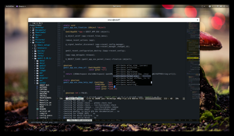 this is a highly customized version - per default emacs25 looks like emacs24