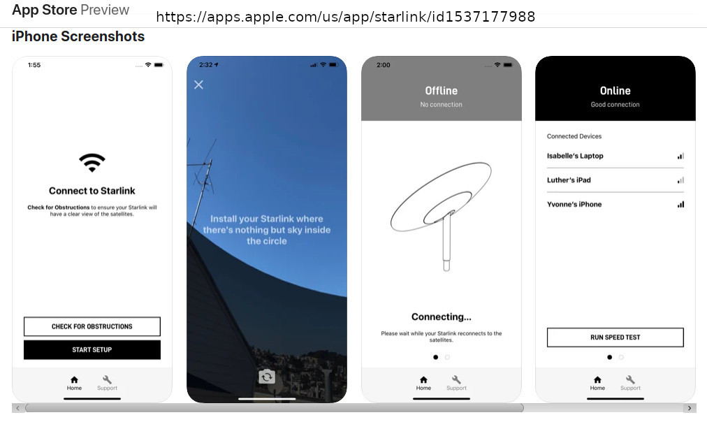"""""""The apps feature a minimalist design leaving plenty of room for expansion and mainly exist to help onboard customers and guide them through the relatively simple setup process."""" https://apps.apple.com/us/app/starlink/id1537177988"""