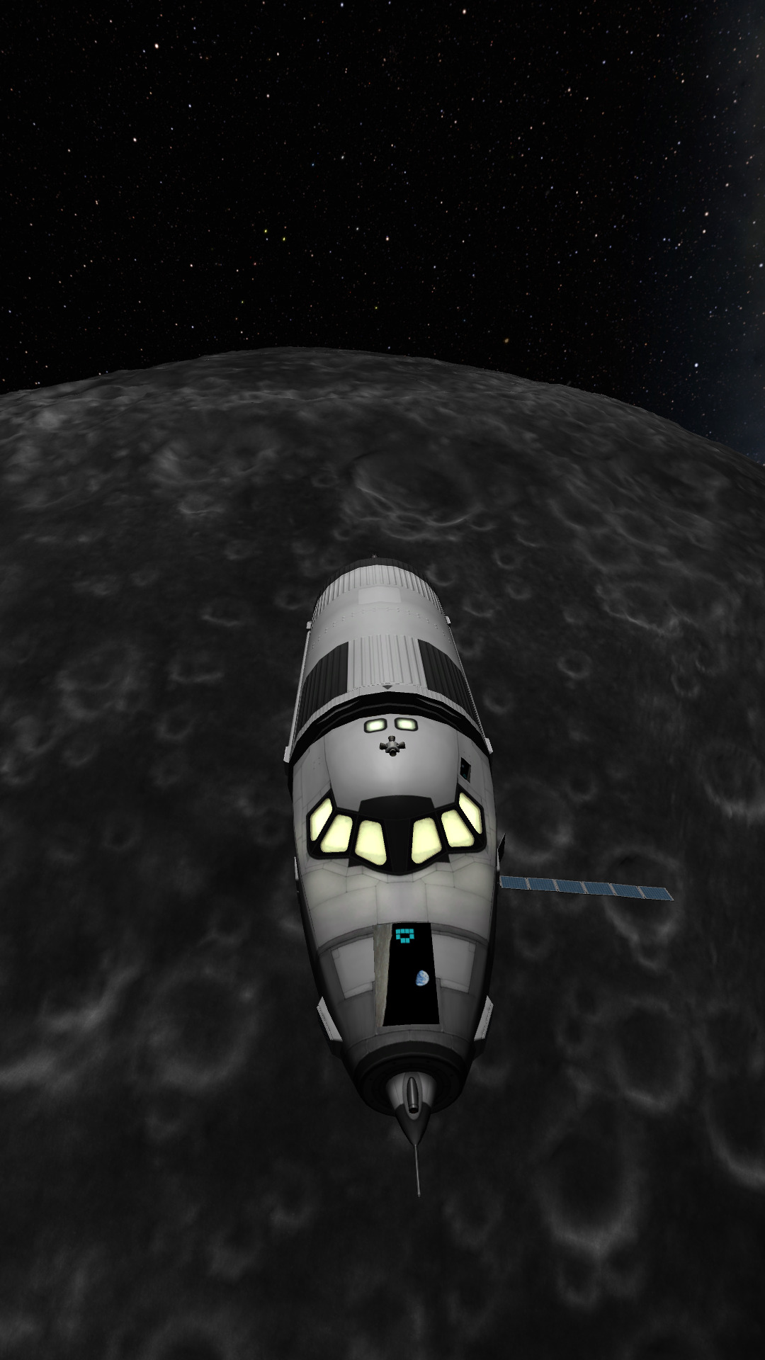 Kerbal Space Program Simulation – made it (eyeballed-it) to the mün – but fuel is low X-D (as always) – Trouble deleting nav maneuver nodes?