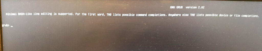 GNU Linux Debian 10 – dead boot partition stuck at grub prompt