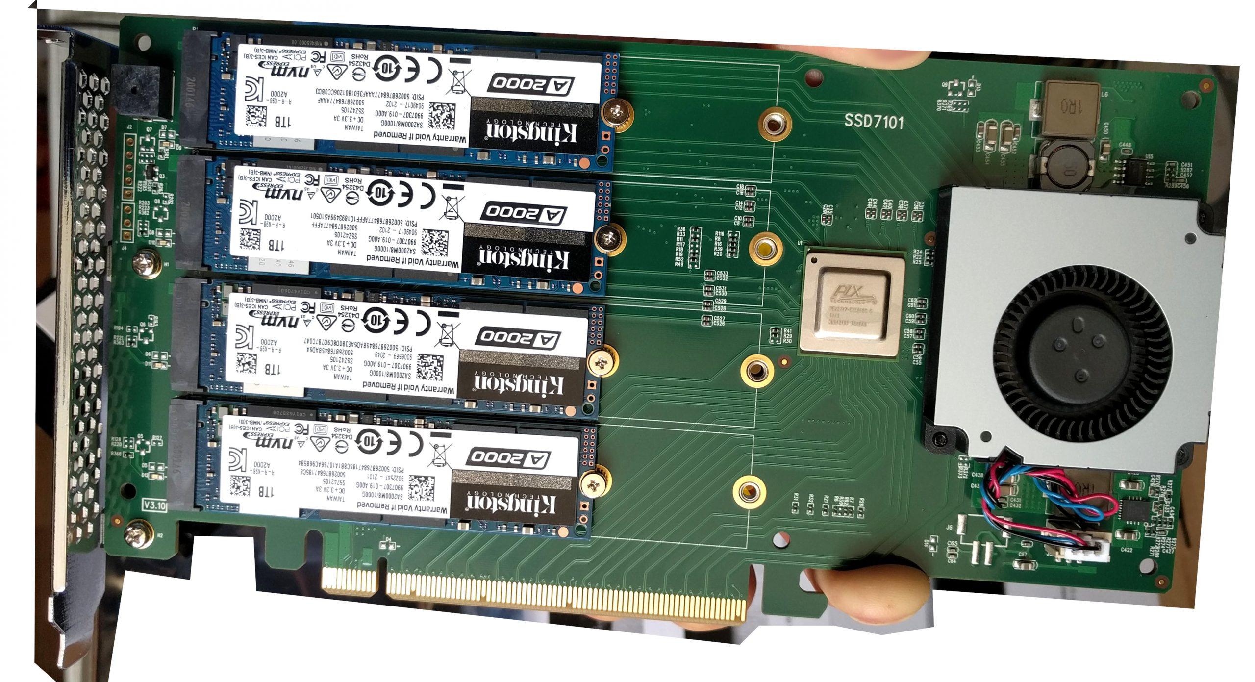 GNU Linux & Windows Server 2012 R2 – benchmark results HighPoint SSD7101A-1 NVMe RAID (harddisk) card + 4x 1TB Kingston NVMe (KINGSTON SA2000M81000G)  (individually and in mdadm RAID10 mode) – disk failures under Win 2012 R2