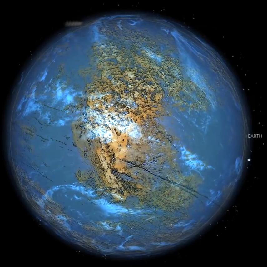 Earth 3.8 Billion years ago
