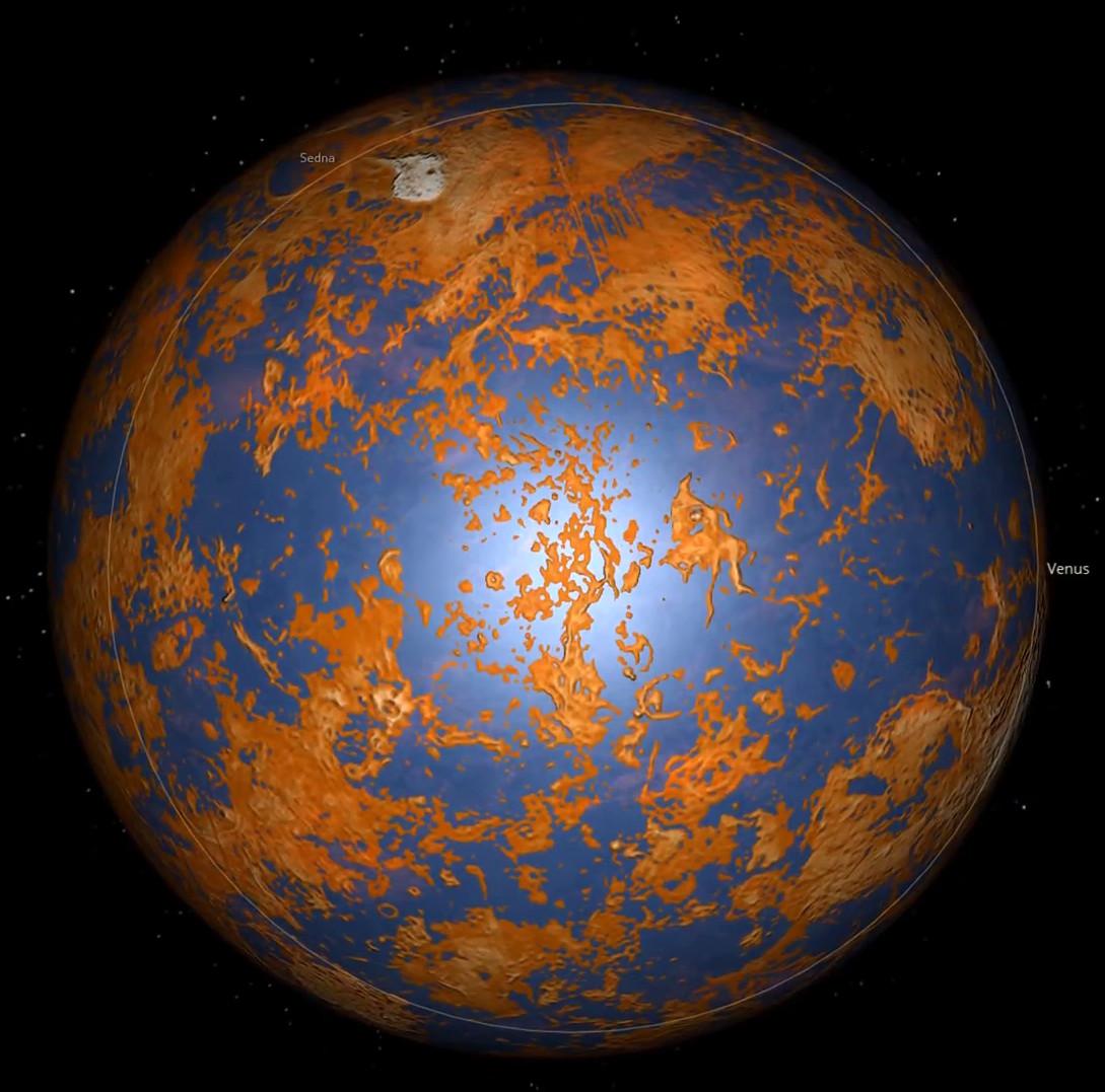 Venus 3.8 Billion years ago