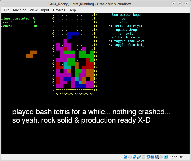 https://dwaves.de/2019/04/07/bash-games-good-things-are-happening-tetris-and-snake-implemented-in-pure-bash/