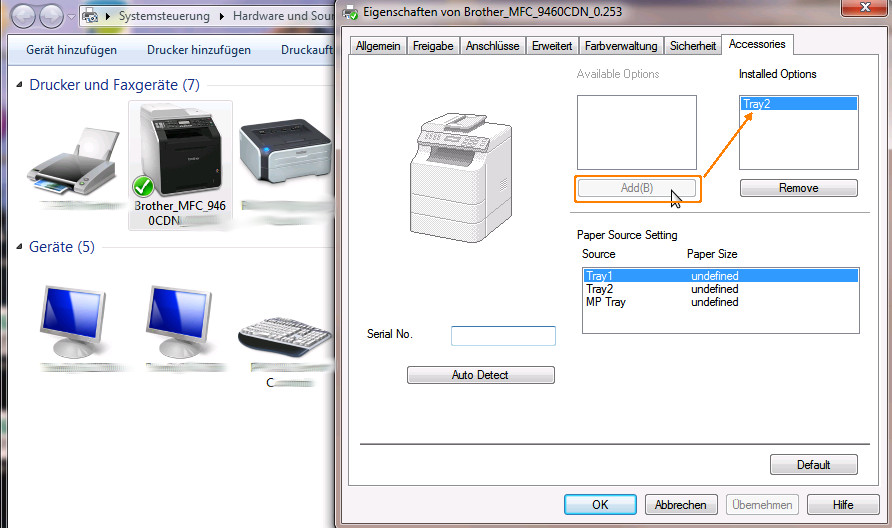 Brother Printer How to Activate 2 (secondary) Tray