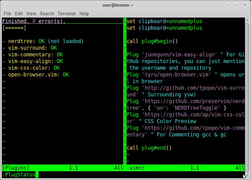 GNU Linux how to vim install VimPlug